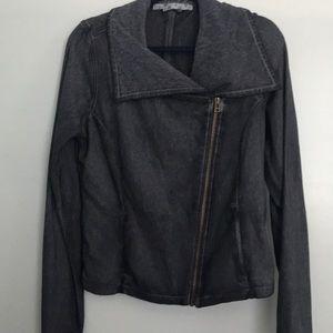 Athleta City Limits Gray Moto Jacket - Size L